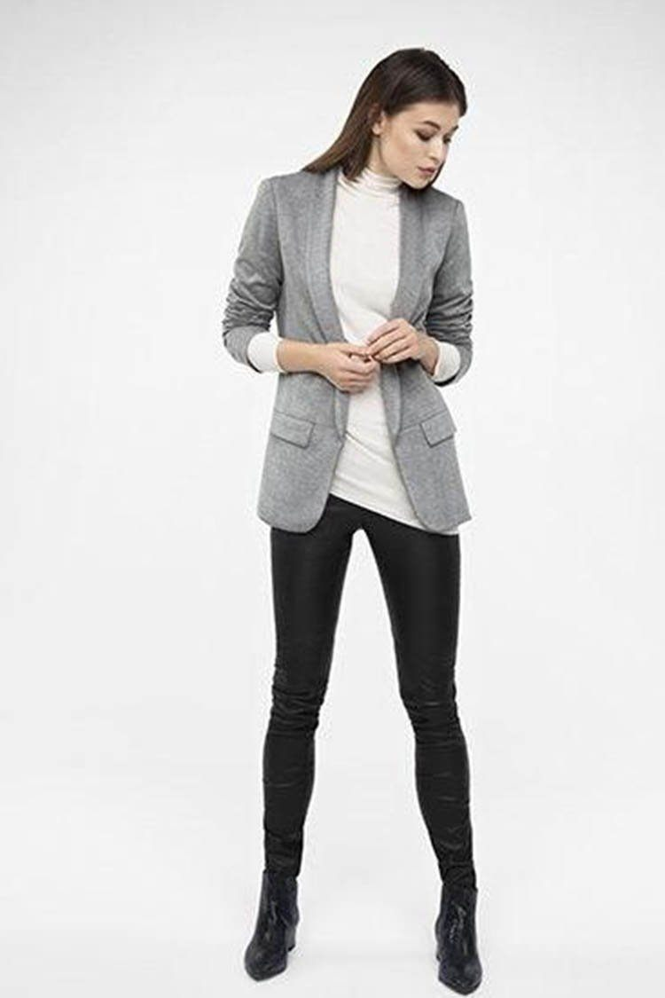Jersey Smoking Blazer in Grey | FINAL SALE
