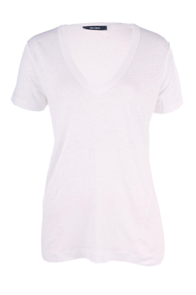 Brooklyn Tee in White by Jac + Jack Frockaholics.com