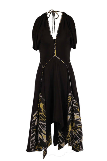 Connection Drape Dress in Black