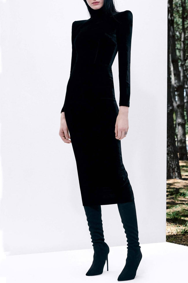 Palmer Velvet Long Sleeve Dress