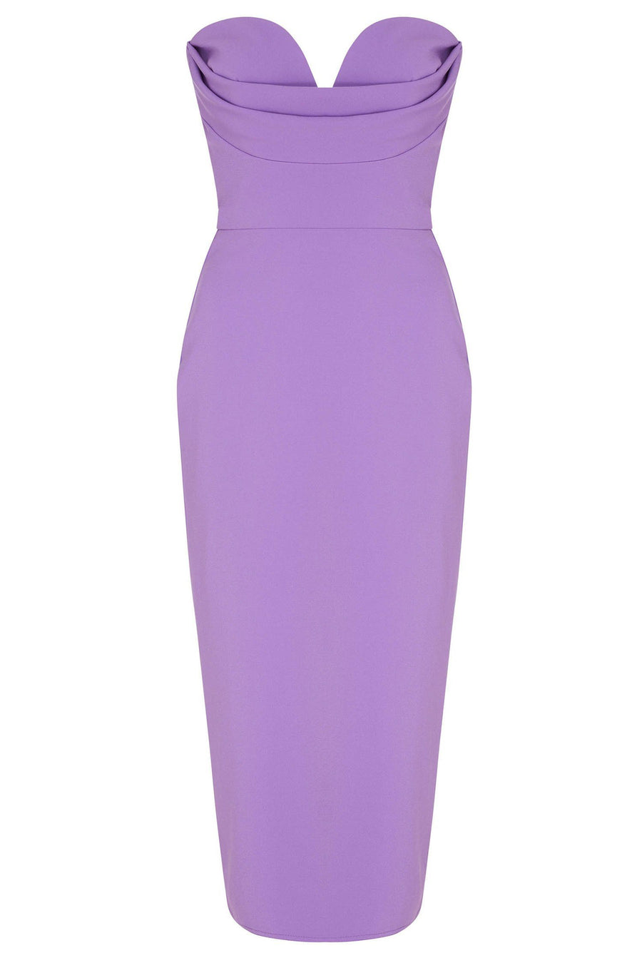 Corley Stretch Sweetheart Dress in Lilac
