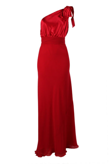 2 Tone Chelsea in Red  | Poly Satin Bodice Skirt in Poly Georgette