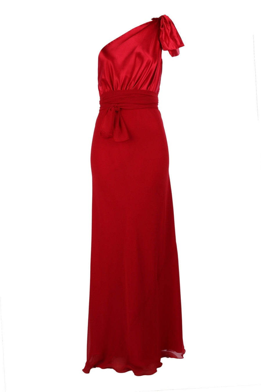 Shop Online 2 Tone Chelsea in Red  | Poly Satin Bodice Skirt in Poly Georgette by Lucy Laurita - Leiela  Frockaholics Dresses