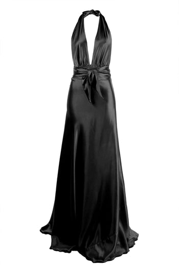 Shop Online Vixen Gown in Black by Lucy Laurita - Leiela  Frockaholics Dresses