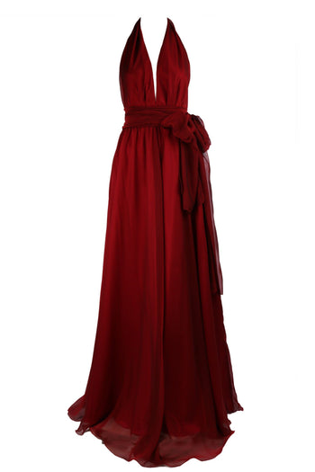 Alida Gown in Ruby | Chiffon