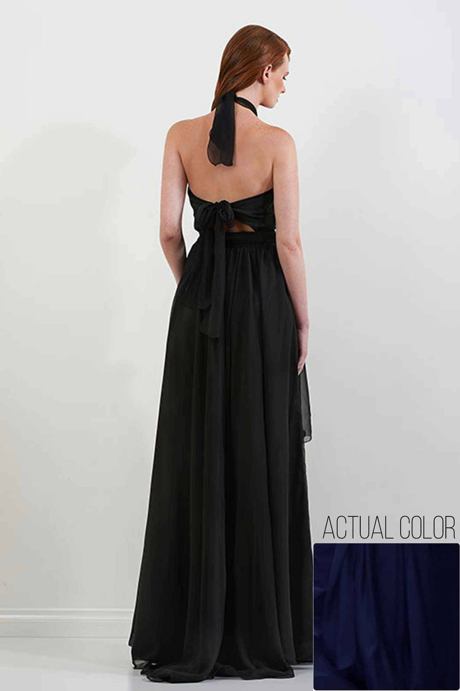 Shop Online Harlow Gown in Midnight | Chiffon by Lucy Laurita - Leiela  Frockaholics Dresses