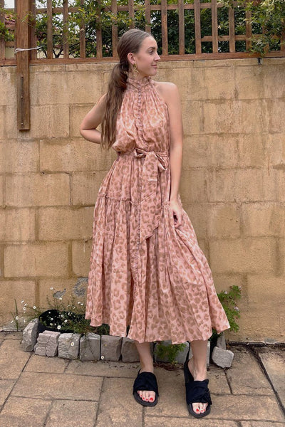 Nerize Dress in Leopard Blush Dresses Lola Australia