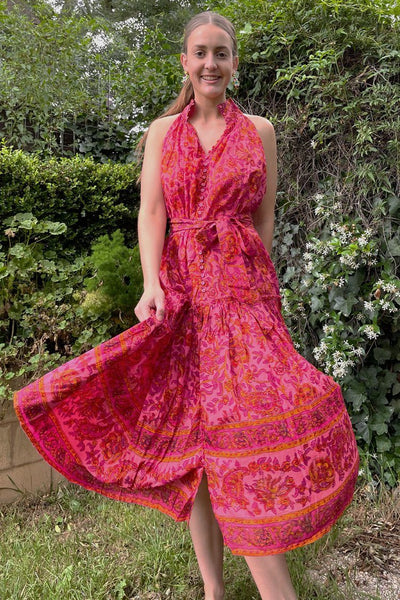 Nerize Dress in Paisley Pink Dresses Lola Australia