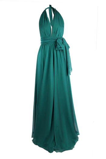 Alida Gown in Emerald | Chiffon