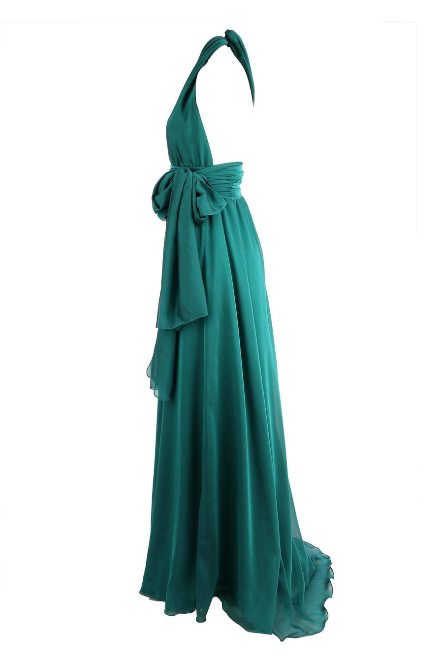 Shop Online Alida Gown in Emerald | Chiffon by Lucy Laurita - Leiela  Frockaholics Dresses