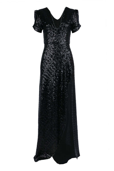 Viva Gown in Black Sequin Dresses Lucy Laurita - Leiela