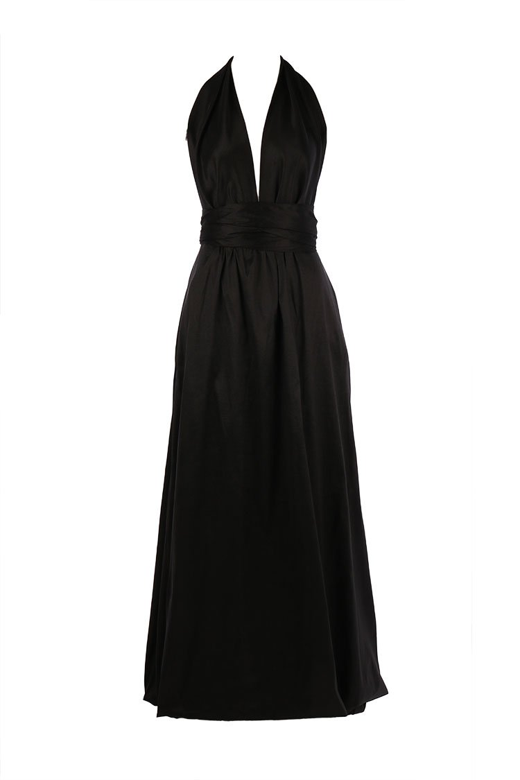 Cameo Bubble Gown in Black