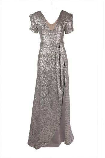 Viva Gown in Silver Sequin