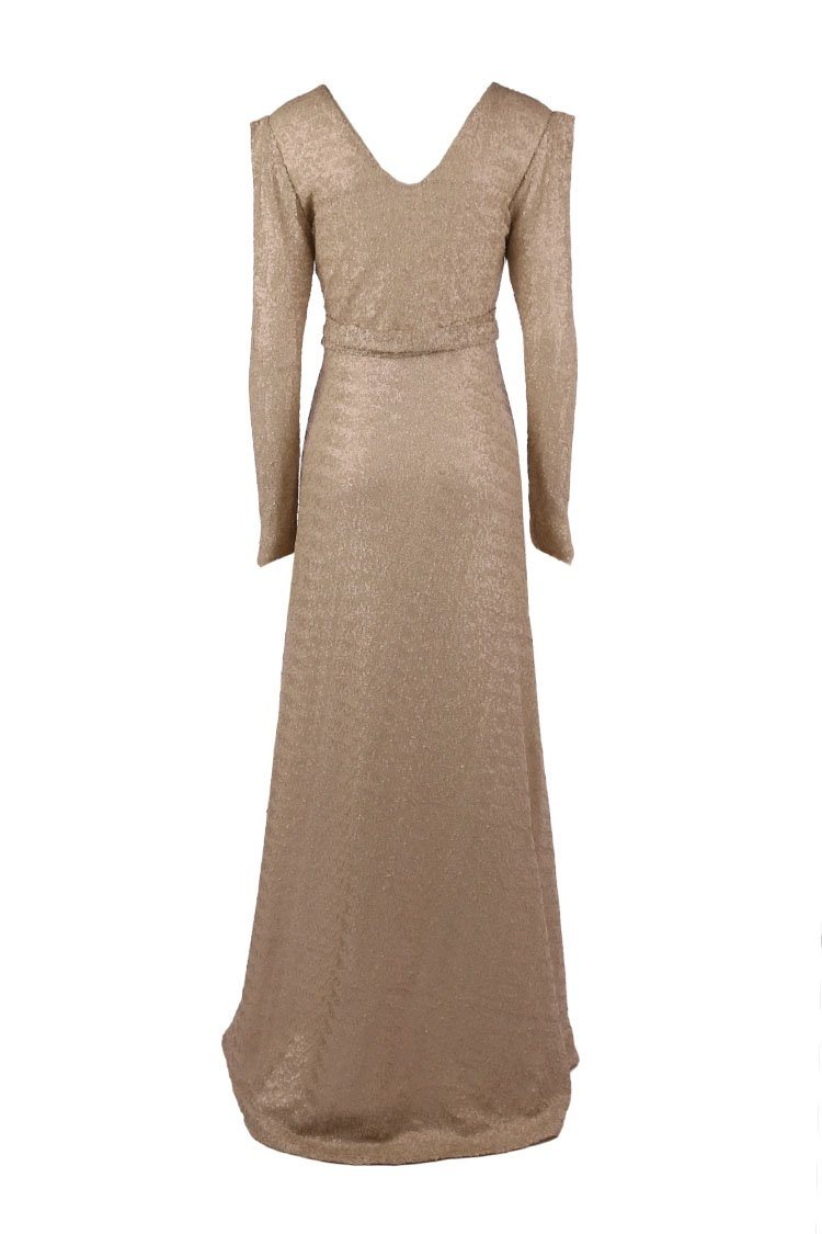 Stardust LS Gown in Champagne