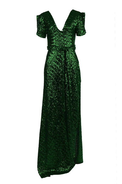 Viva Gown in Green Sequin Dresses Lucy Laurita - Leiela