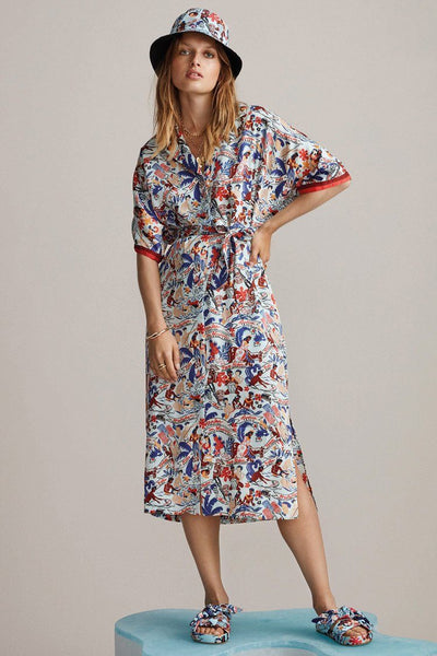 Printed Shirt Dress - Keoni Dresses Maison Scotch