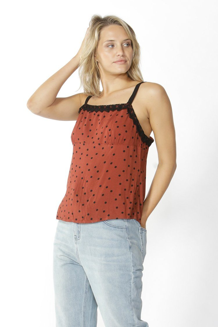 Mathilde Camisole Top in Coffee