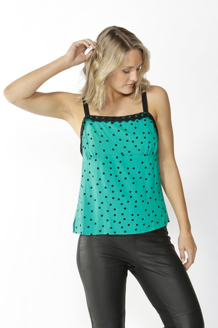 Mathilde Camisole Top in Green