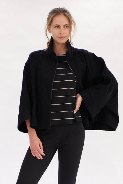 Relaxed Boat Neck in Black Vanilla Tops Mela Purdie
