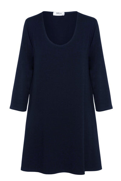 Relaxed Loose Top in French Navy Tops Mela Purdie