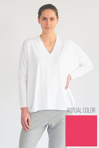 Energy Sweater in Guava Tops Mela Purdie