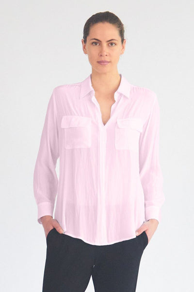 Soft Pocket Shirt in Blush Tops Mela Purdie