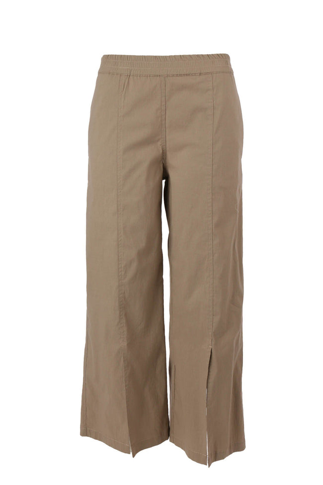 Double Split Pant in Almond