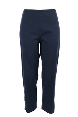 Cropped Stud Pant in French Navy