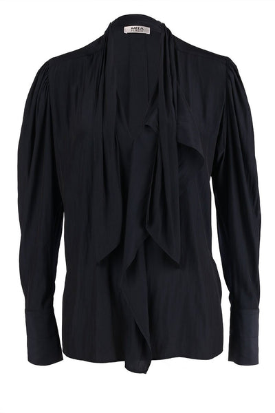Cravat Blouse in French Navy Tops Mela Purdie
