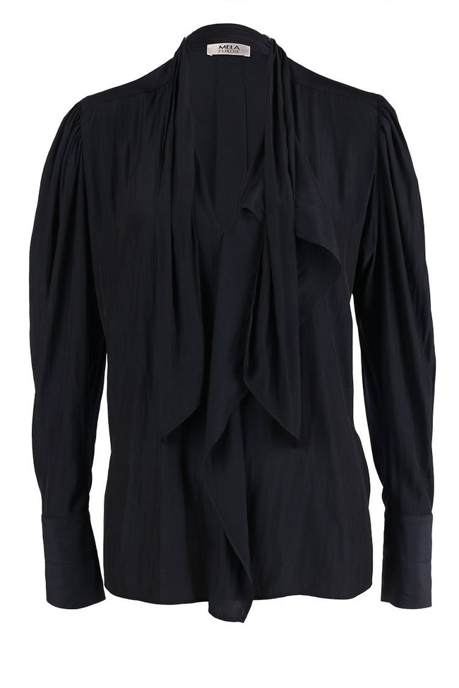 Cravat Blouse in French Navy