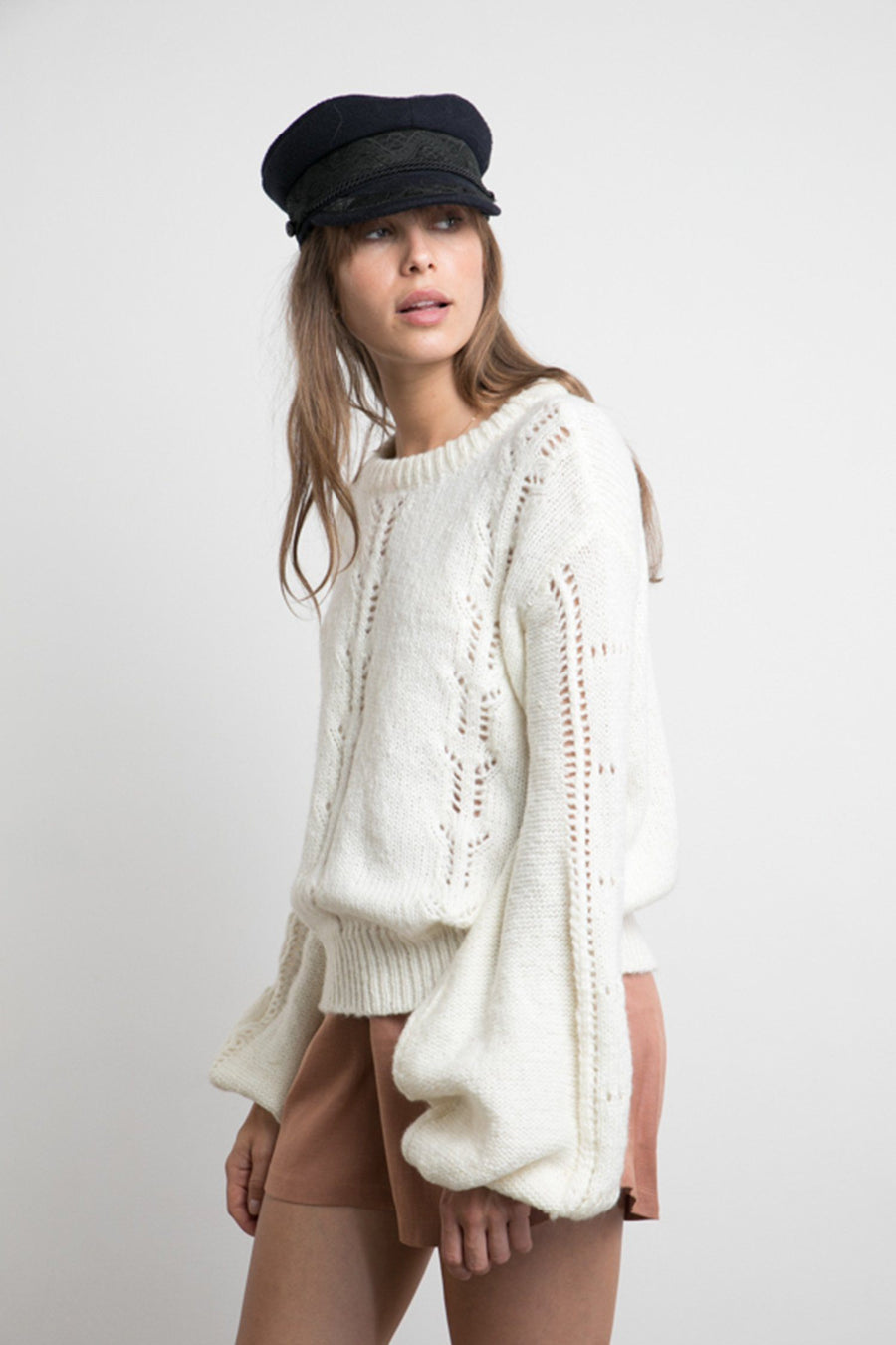 Carly Knit in Ivory