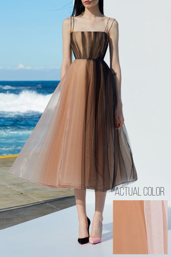 Lovell Portrait Midi in Nude/White