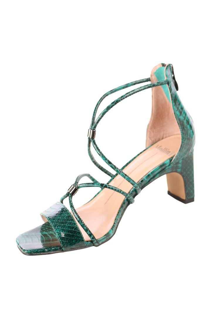 Hiltsy Heel in Emerald | FINAL SALE