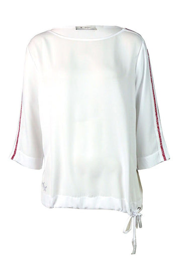 Sports Band Jersey Blouse