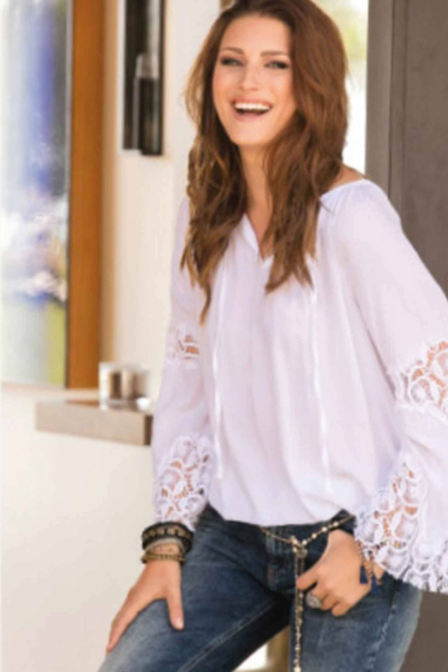 Blouse Hippiestyle + Lace by Monari Frockaholics.com