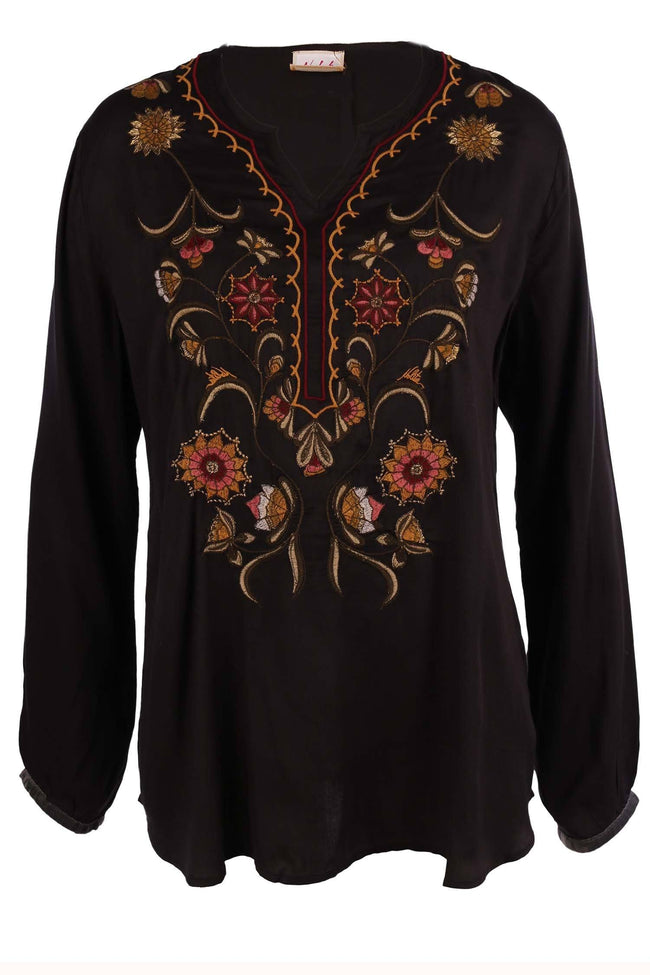 Sila Blouse in Pitch Black