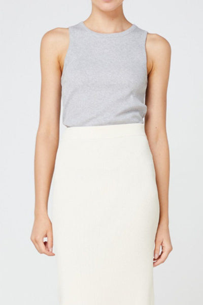 Nola Tank in Grey Tops Elka Collective