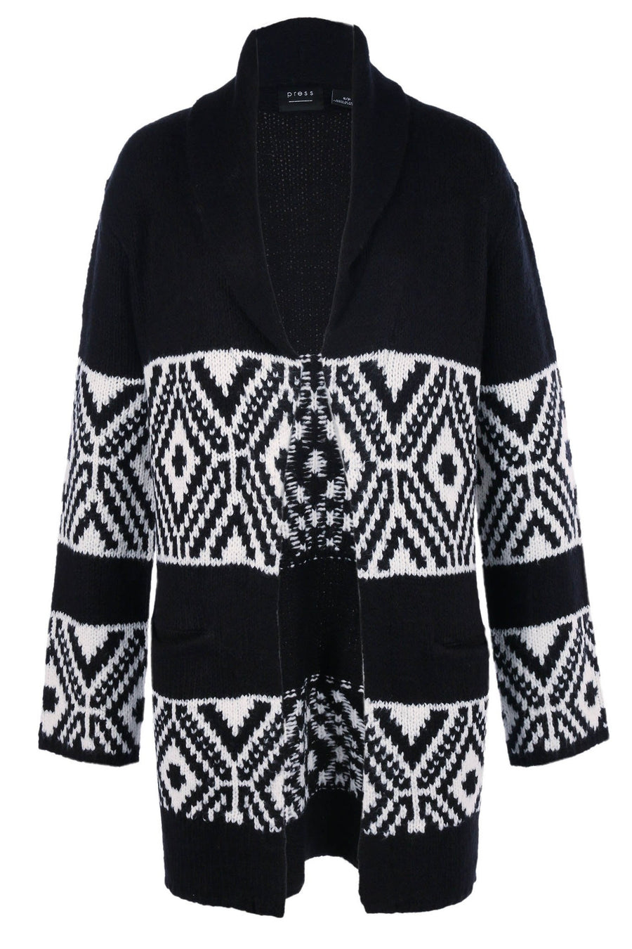Fair Isle Jacquard Cardigan by Press Frockaholics.com