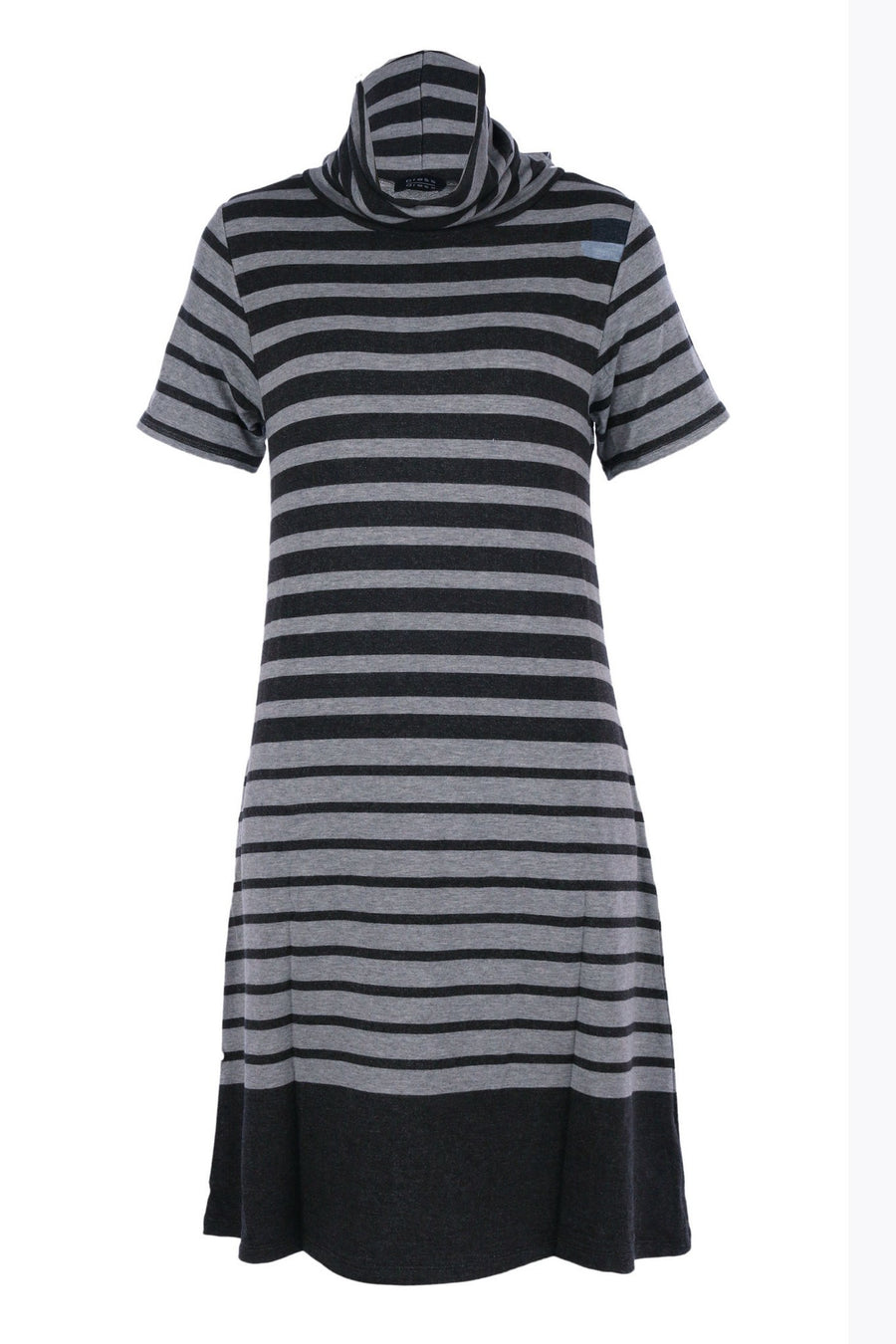 Easy Pull on Roll Neck Dress by Press Frockaholics.com