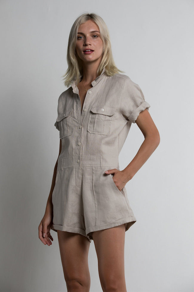 Hester Jumpsuit in Sand