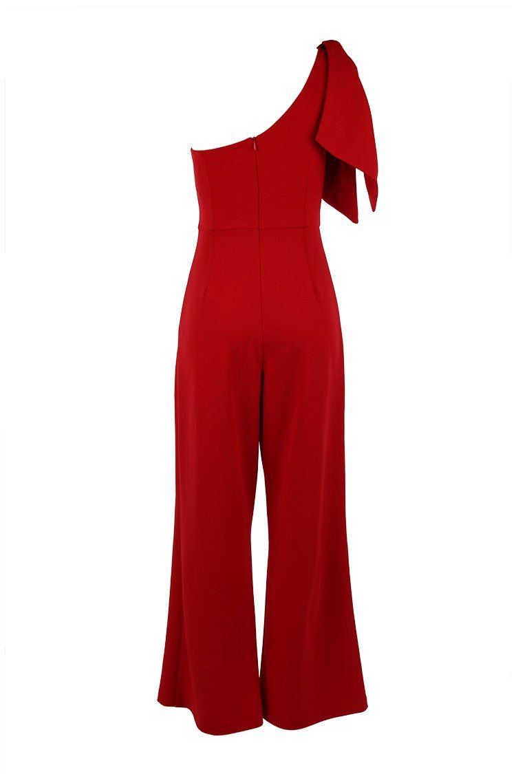 Justine Jumpsuit in Red
