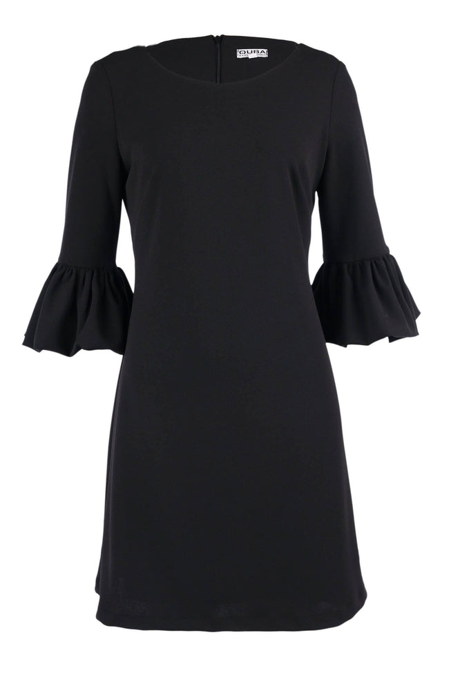 Shop Online Remi Bell Sleeve Dress in Black by Quba  Frockaholics Dress