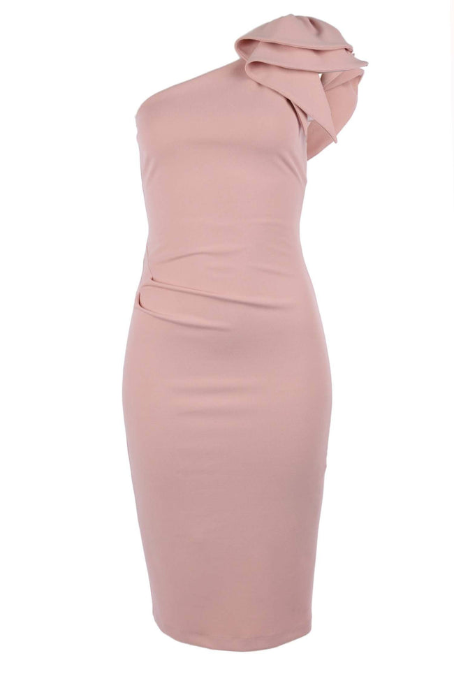 Shop Online Rose One Shoulder Dress by Quba  Frockaholics Dress