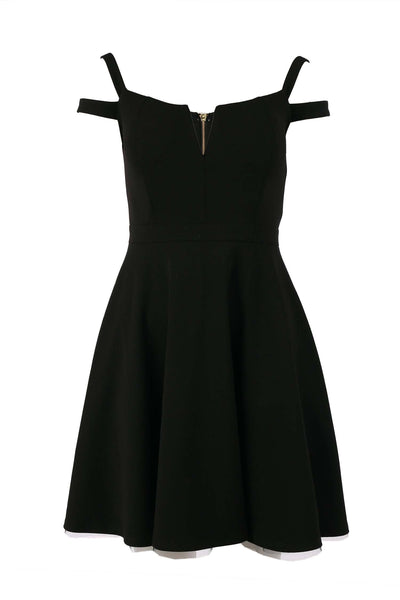 Tyler V-neck Dress in Black | FINAL SALE Dresses Quba
