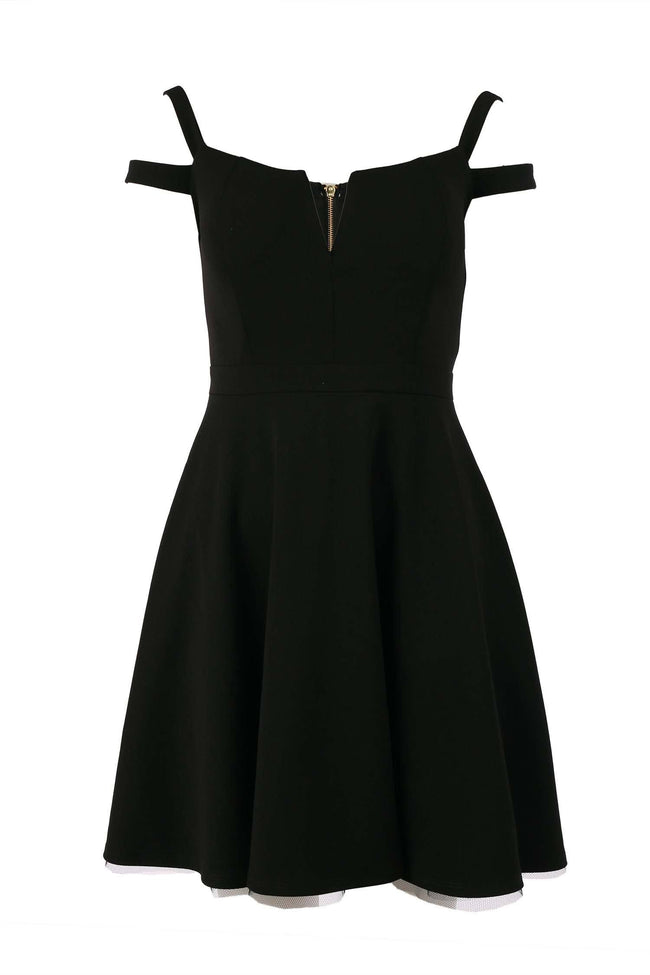 Tyler V-neck Dress in Black | FINAL SALE