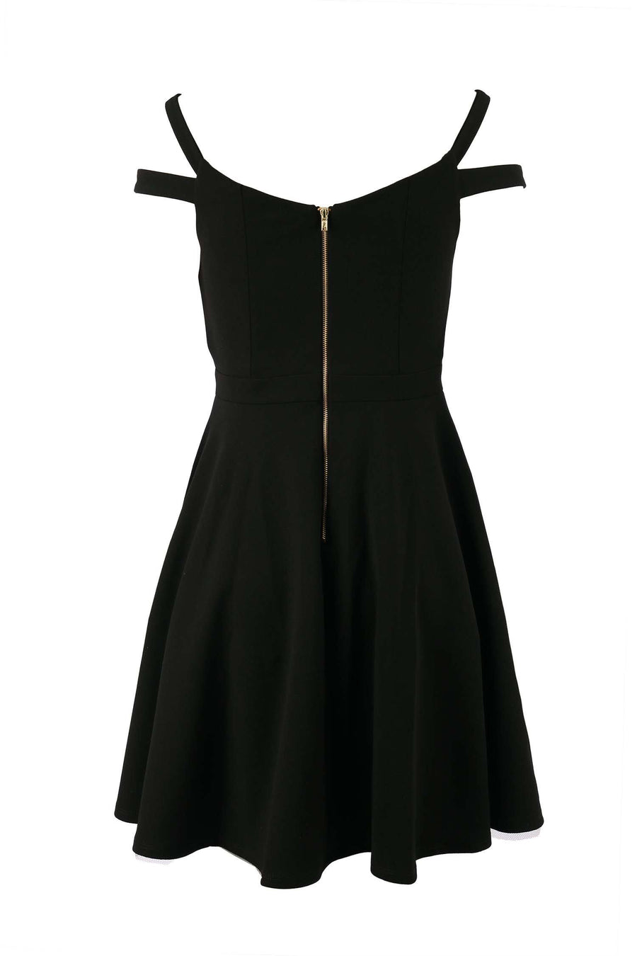 Tyler V-neck Dress in Black