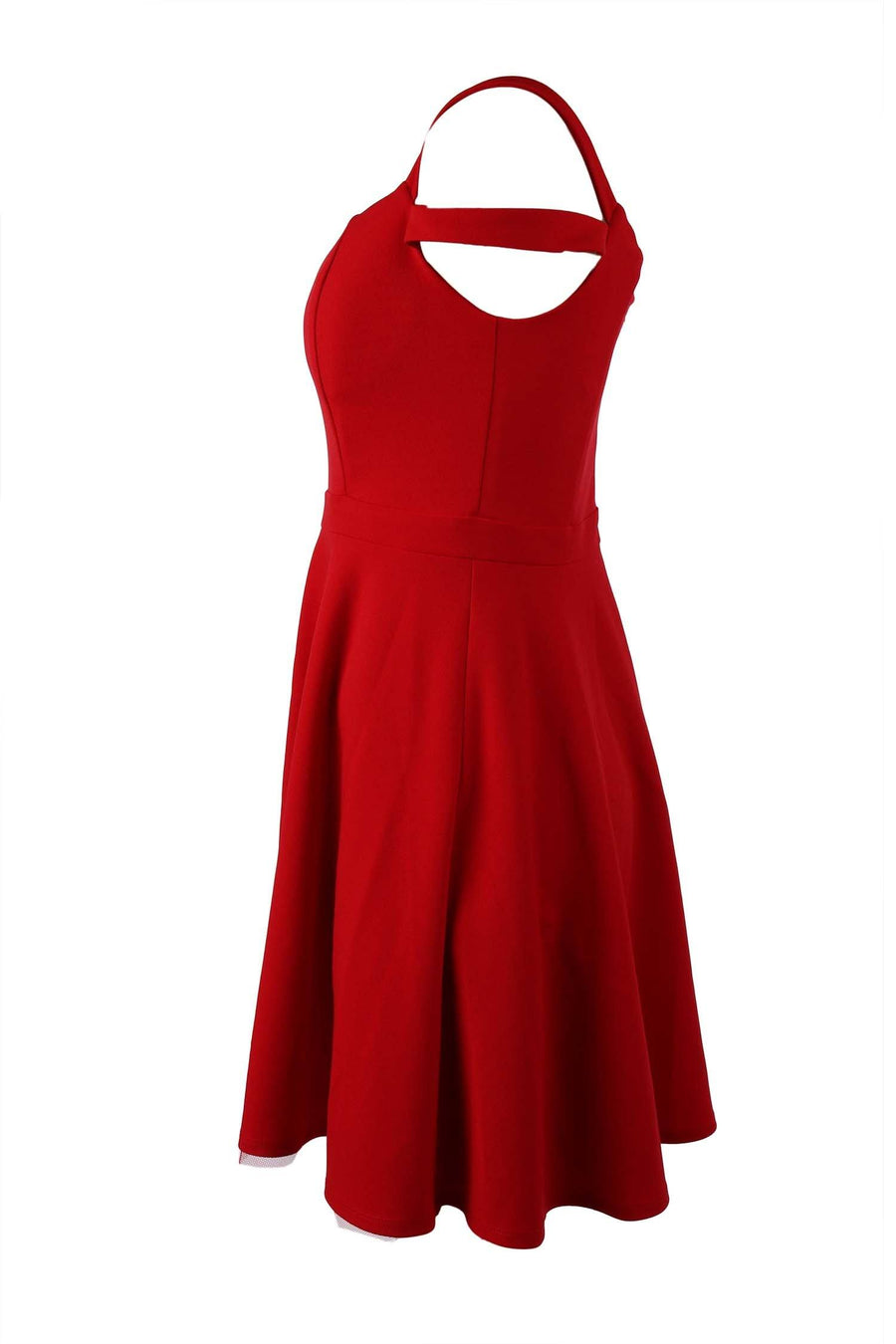 Tyler V-neck Dress in Red
