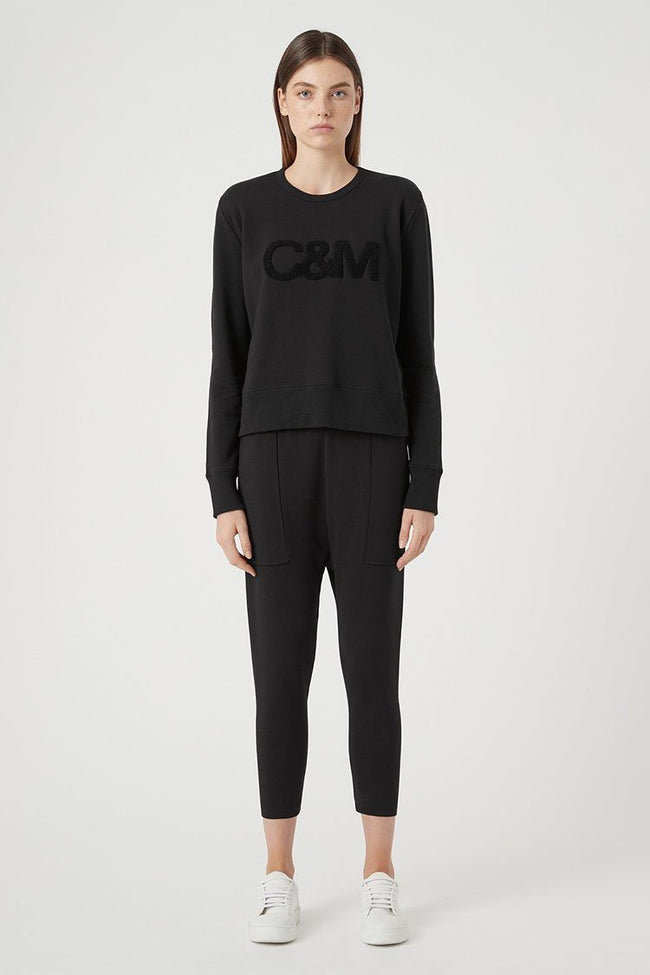 Owens Logo Crew in Black