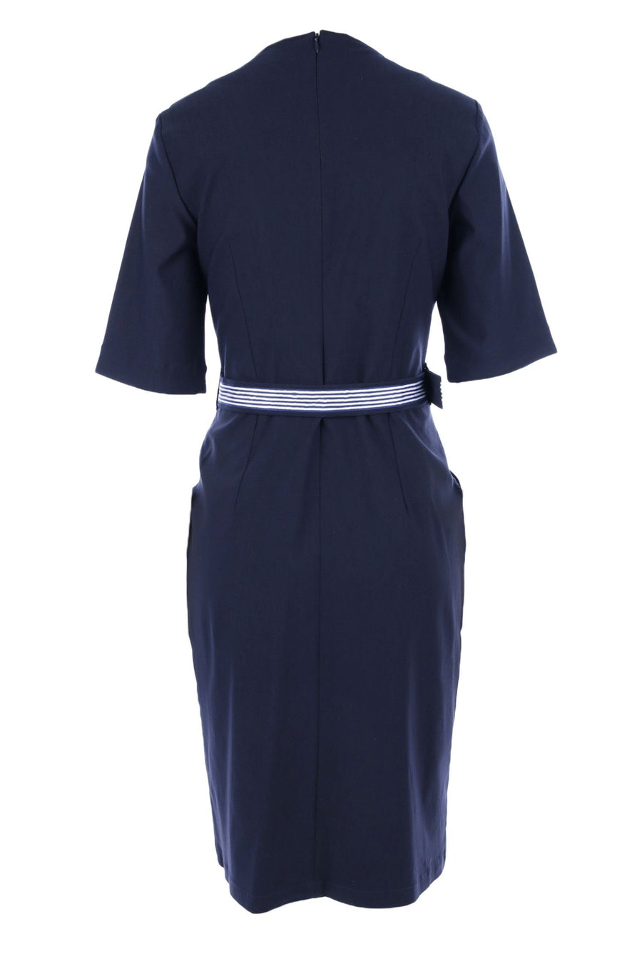 Fitted Dress Belted 3/4 Sleeve by Sacha Drake Frockaholics.com