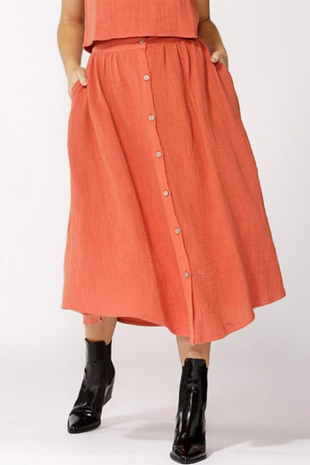 Lost Dreams Buttoned Skirt in Sunrise